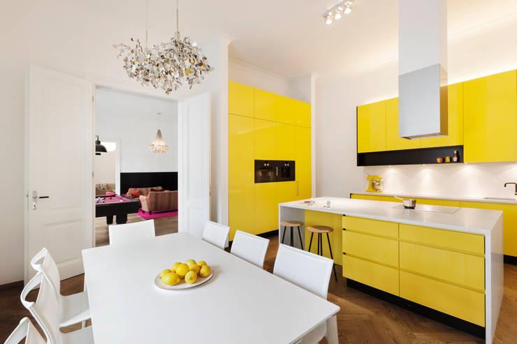 Projekty,  Kuchnia zaprojektowane przez Tischlerei Krumboeck