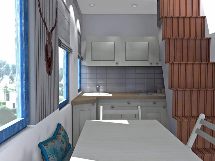 Интерьер кухни от Мастерская дизайна ЭГО Рустикальный