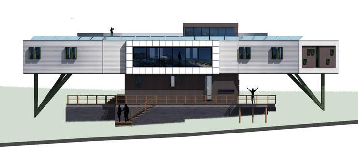 Casas de estilo  por E2 Architecture + Interiors, Moderno