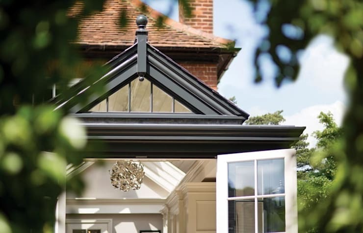 One of the vertical glazed gable ends:  Conservatory by Westbury Garden Rooms