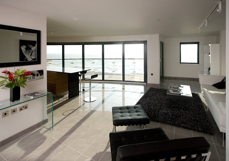 Beaufort Mansions: minimalistic Living room by Lee Evans Partnership