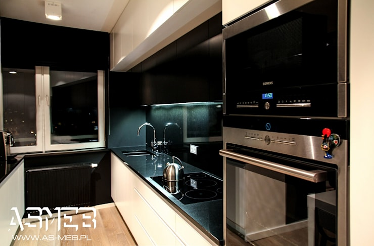 Realizacja Bielany, Warszawa: styl , w kategorii Kuchnia zaprojektowany przez AS-MEB