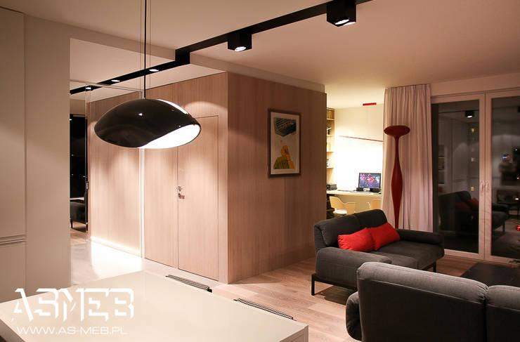 Realizacja Bielany, Warszawa: styl , w kategorii Salon zaprojektowany przez AS-MEB