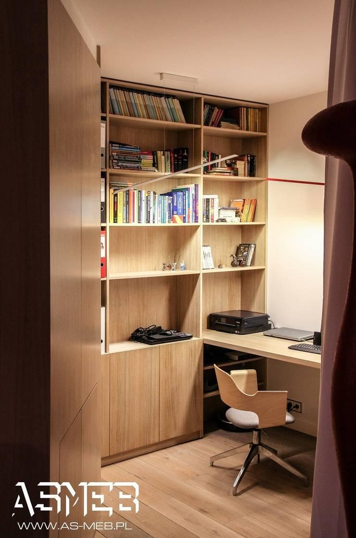 Realizacja Bielany, Warszawa: styl , w kategorii Domowe biuro i gabinet zaprojektowany przez AS-MEB
