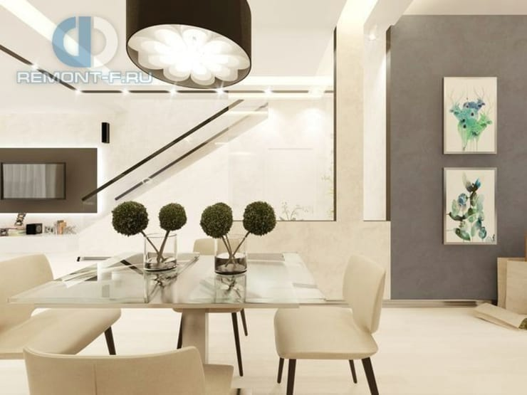 """Студия дизайна ГК """"Фундамент"""": Столовые комнаты в . Автор – Группа Компаний 'Фундамент'"""