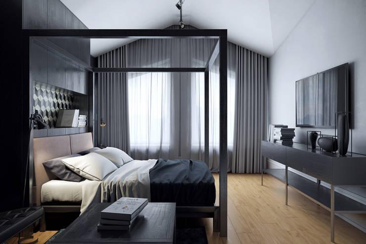 Дом для отдыха в Ялте: Спальни в . Автор – Перспектива Дизайн