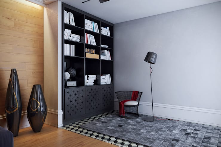 Дом для отдыха в Ялте: Гостиная в . Автор – Перспектива Дизайн
