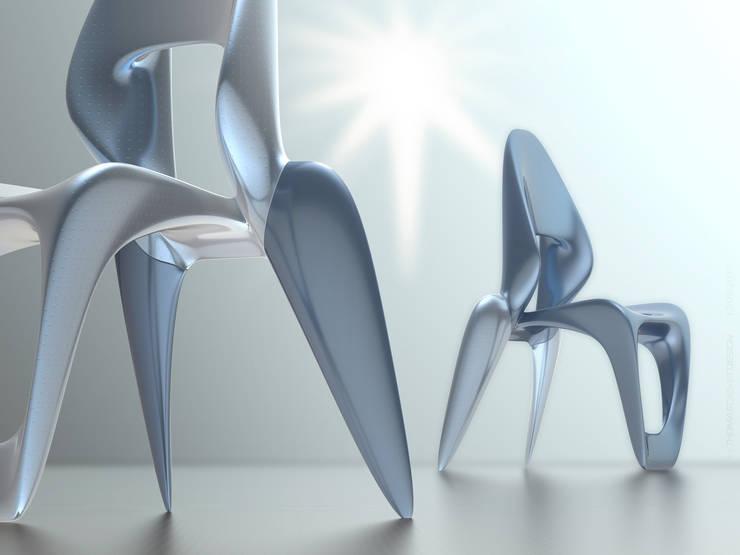 SkulptChair cool metal:  Esszimmer von ThomasCleverDesign