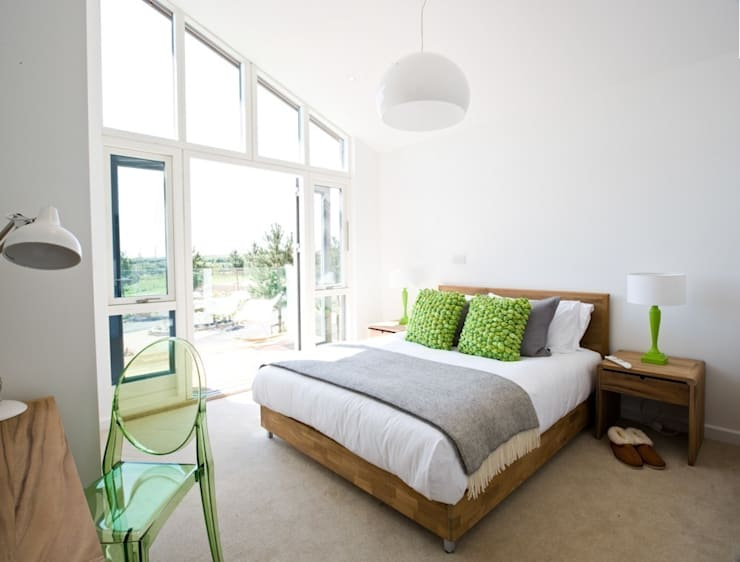 Green House , Una St Ives : modern Bedroom by iroka