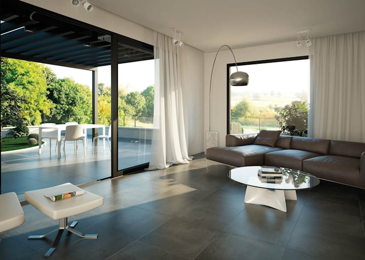 Projekty,  Salon zaprojektowane przez INTERAZULEJO