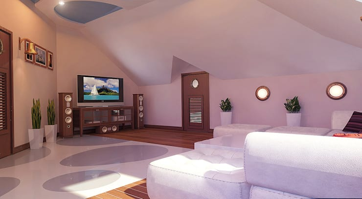 Гостиная в . Автор – Architoria 3D
