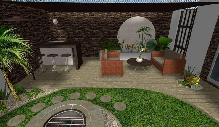 diseño - área social: Jardines de estilo  por Zen Ambient