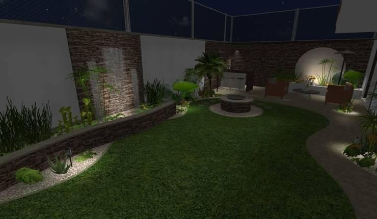 diseño - iluminación de noche: Jardines de estilo  por Zen Ambient
