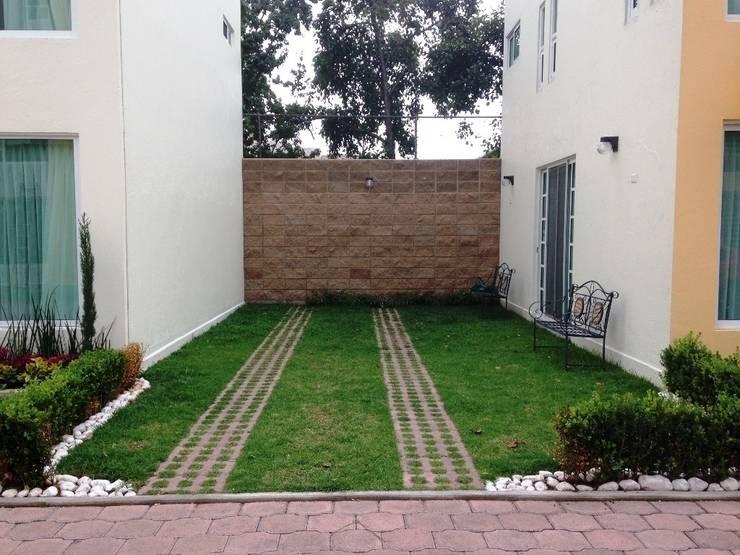jardín similar - foto antes, México DF, 50 m2:  de estilo  por Zen Ambient