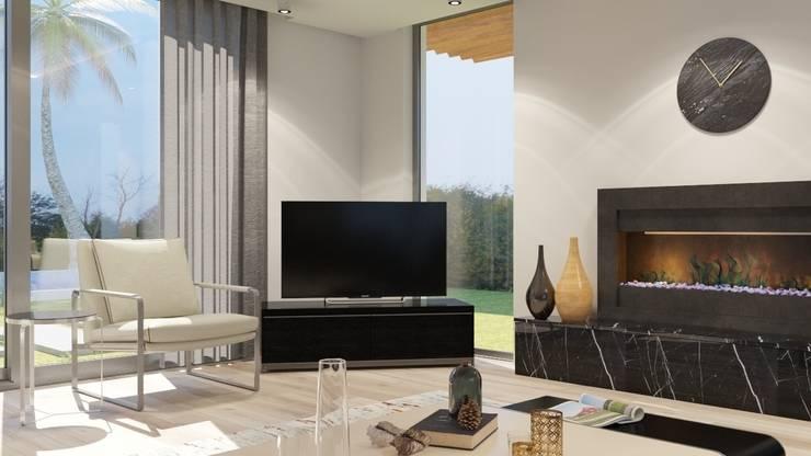 FARGO DESIGNS – MAMURBABA VILLA: modern tarz Oturma Odası