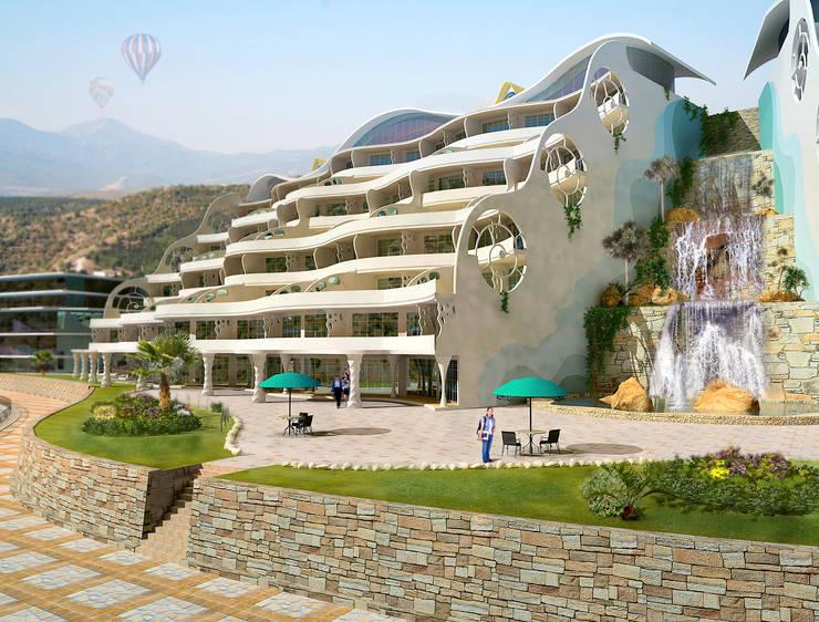 Гостиницы в . Автор – Architoria 3D