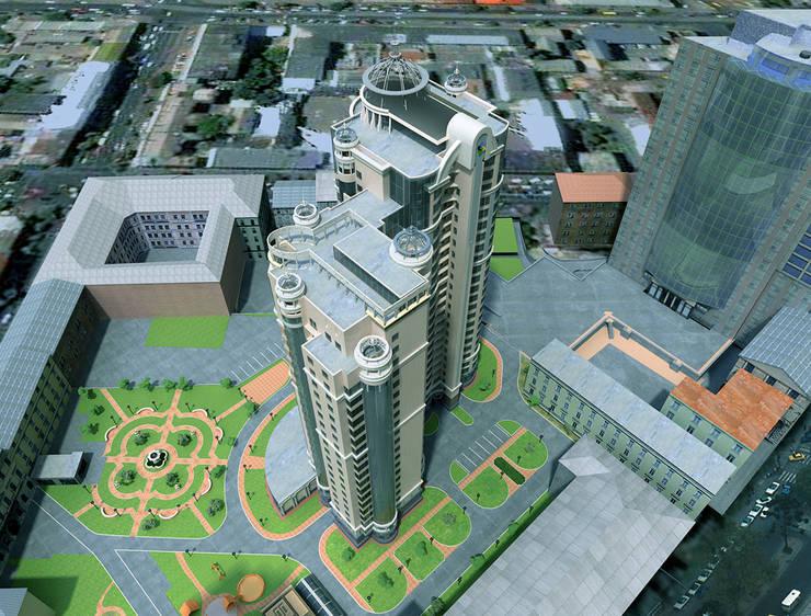 Дом многоэтажный: Офисы и магазины в . Автор – Architoria 3D