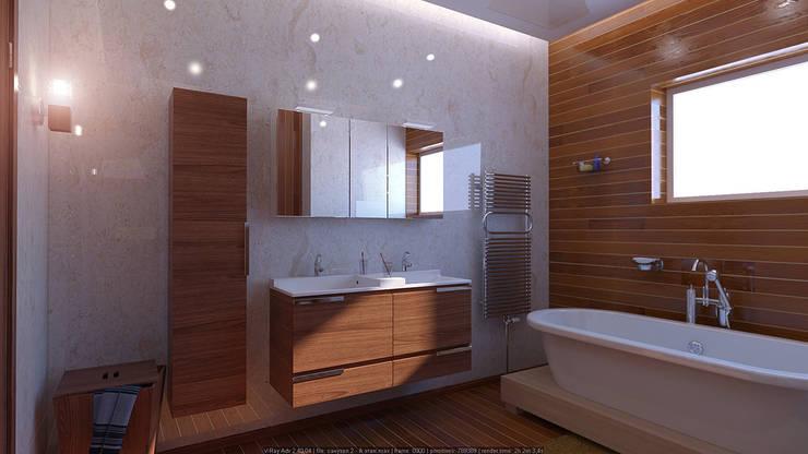 Санузел: Ванные комнаты в . Автор – Architoria 3D