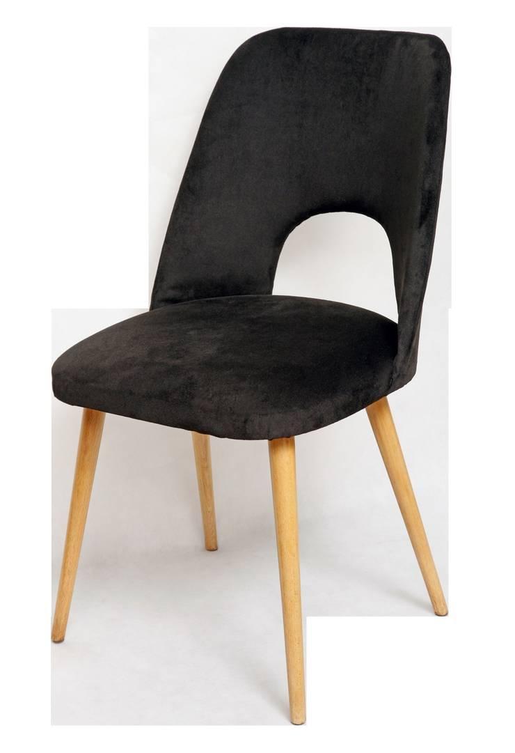 """Krzesło """"z dziurką"""", czarne, lata 60.: styl , w kategorii  zaprojektowany przez Lata 60-te,Skandynawski"""