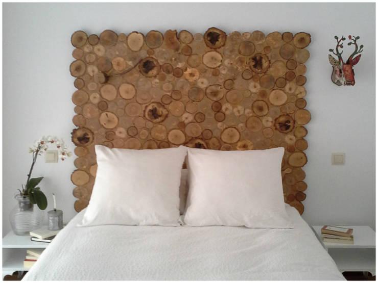 Entre troncos: Dormitorios de estilo rústico de JP.4 ARTWOOD
