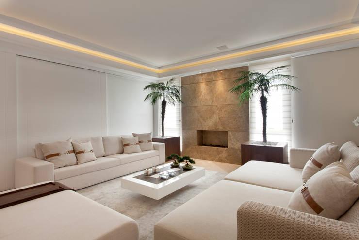 Casa Itu: Salas de estar modernas por Designer de Interiores e Paisagista Iara Kílaris
