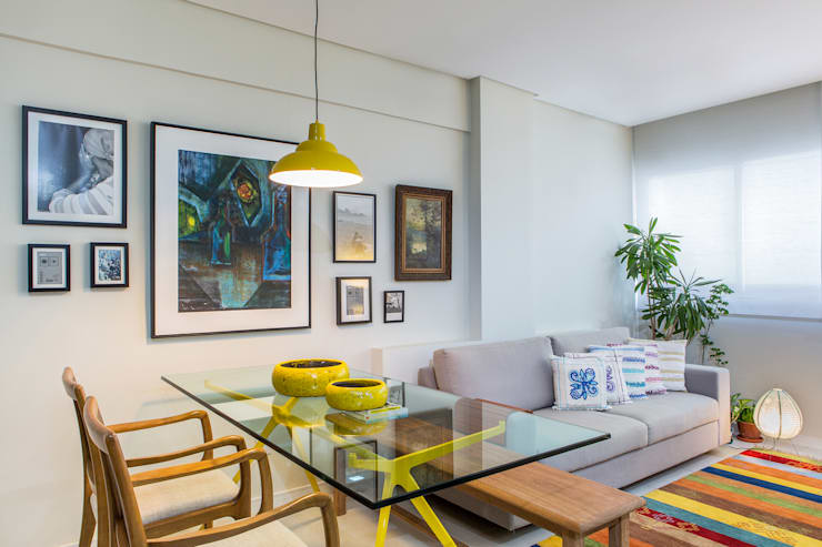 Sala Jantar e estar: Salas de jantar  por Milla Holtz Arquitetura