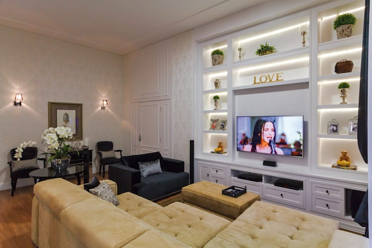 Projeto Residencial: Salas de estar  por Dani Santos Arquitetura