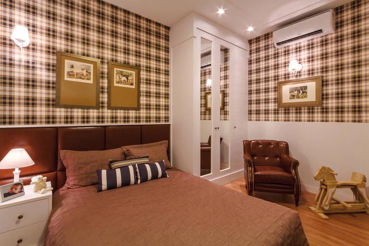 غرفة نوم تنفيذ Dani Santos Arquitetura