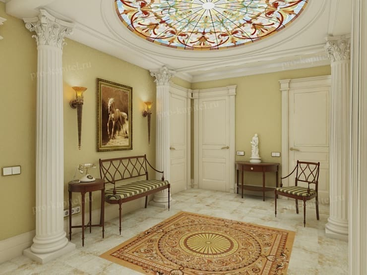 ห้องนั่งเล่น โดย Архитектурное Бюро 'Капитель', คลาสสิค