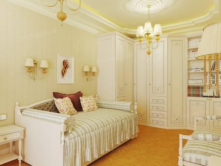 Дизайн интерьера детской комнаты для девочки: Детские комнаты в . Автор – Архитектурное Бюро 'Капитель', Классический