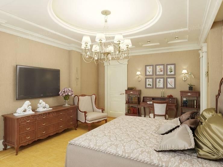 Dormitorios de estilo  por Архитектурное Бюро 'Капитель', Clásico