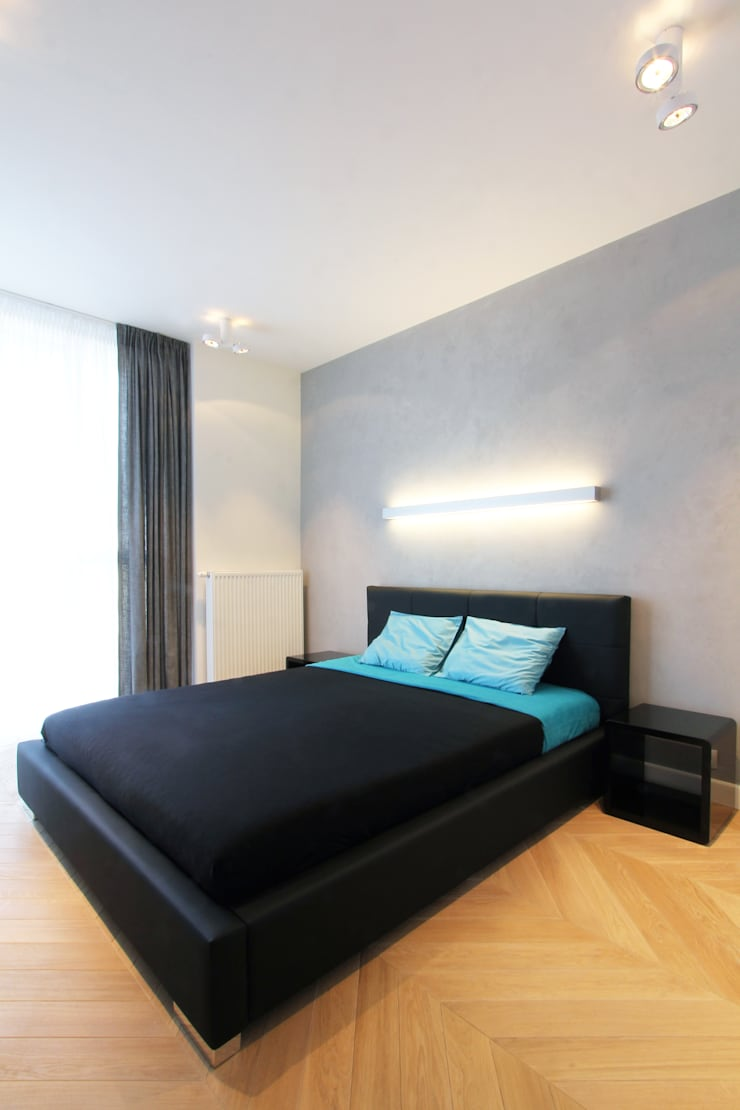 Mieszkanie na wynajem, Poznań: styl , w kategorii Sypialnia zaprojektowany przez Studio Nomo
