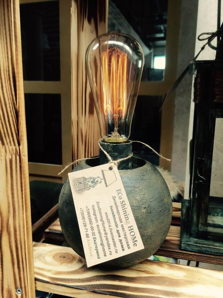 """Настольная лампа """"Железный шар"""": Рабочий кабинет  в . Автор – Eco Shining Home"""