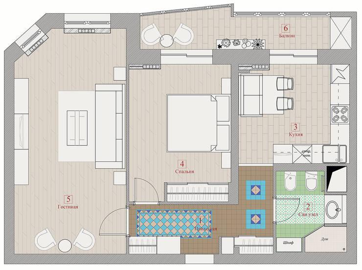 План расстановки мебели.:  в . Автор – Анна Теклюк