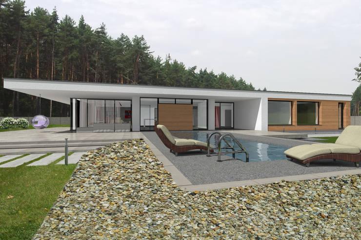 Dom Passive_Luxury: styl , w kategorii Domy zaprojektowany przez ABC Pracownia Projektowa Bożena Nosiła,Minimalistyczny