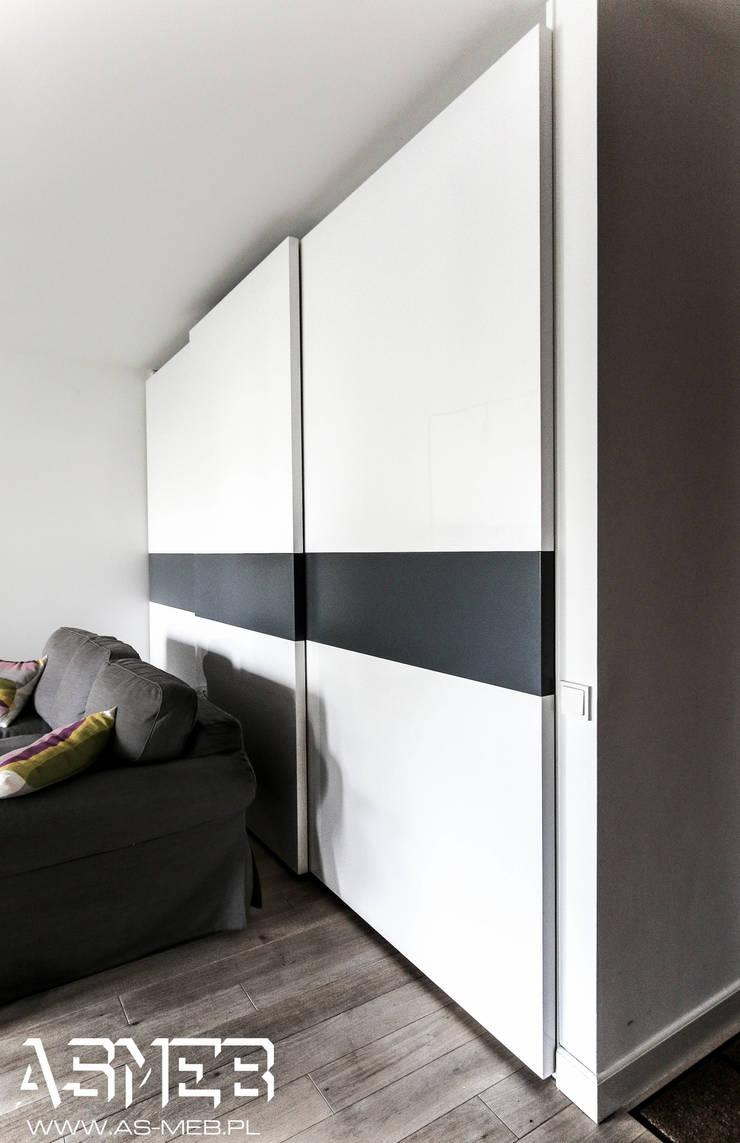 Realizacja ul Chłodna, Warszawa: styl , w kategorii Salon zaprojektowany przez AS-MEB,