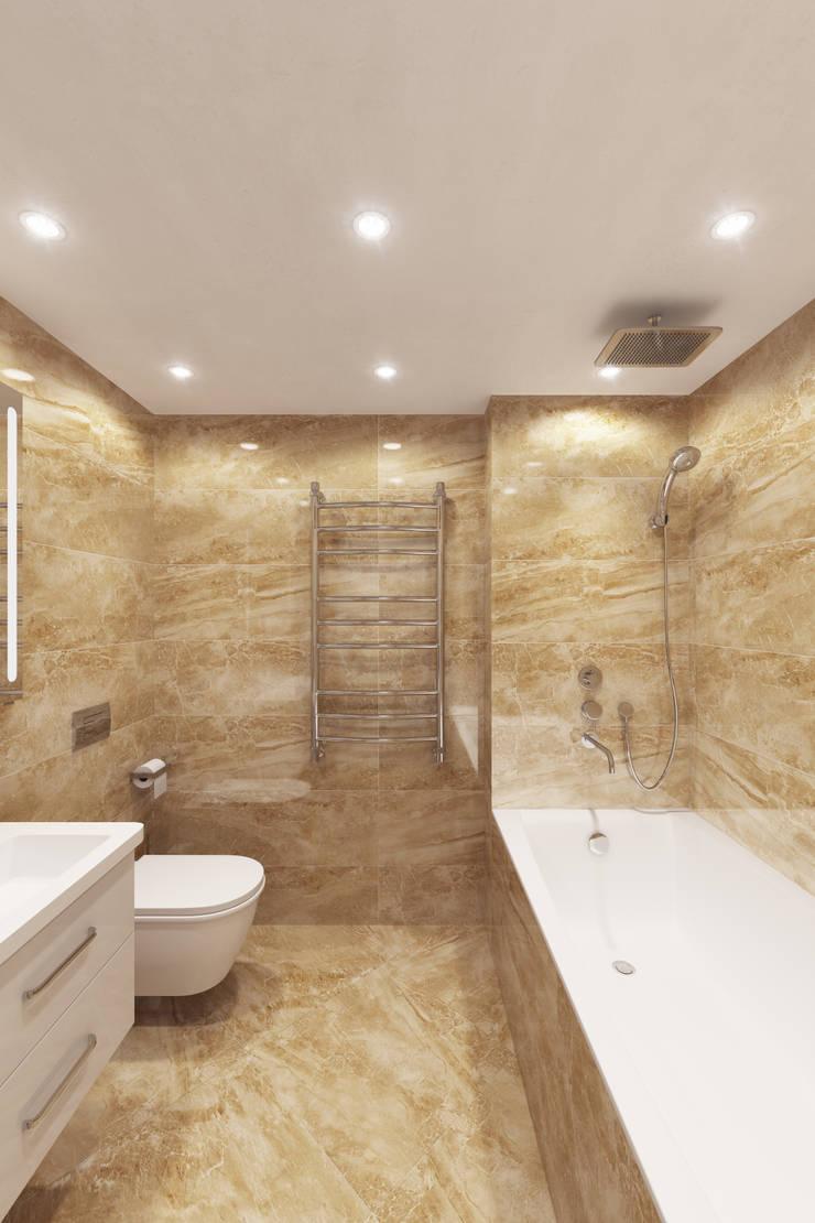 Квартира с мансардой: Ванные комнаты в . Автор – Александра Кудрявцева,