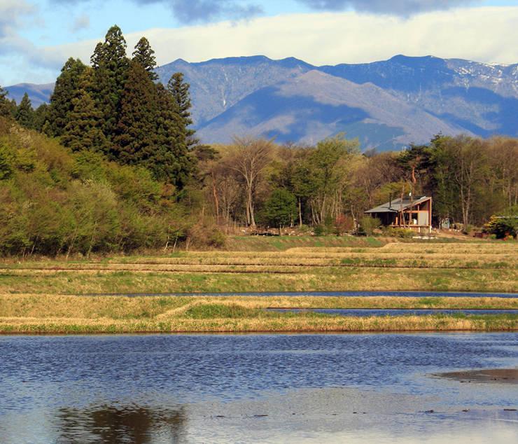 那須の週末住居: 松原正明建築設計室が手掛けた家です。