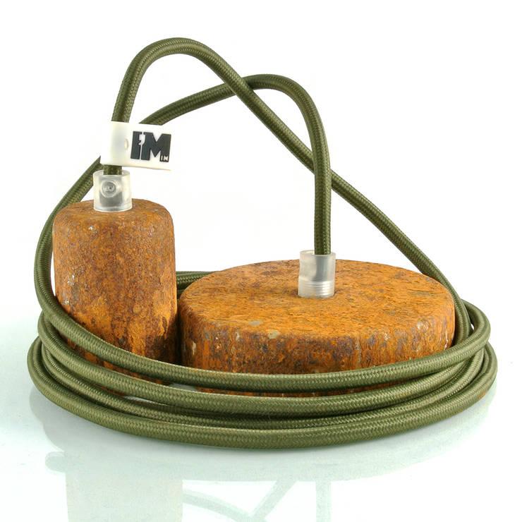 Lampa wisząca imindesign - naturalna rdza: styl , w kategorii Salon zaprojektowany przez IMIN