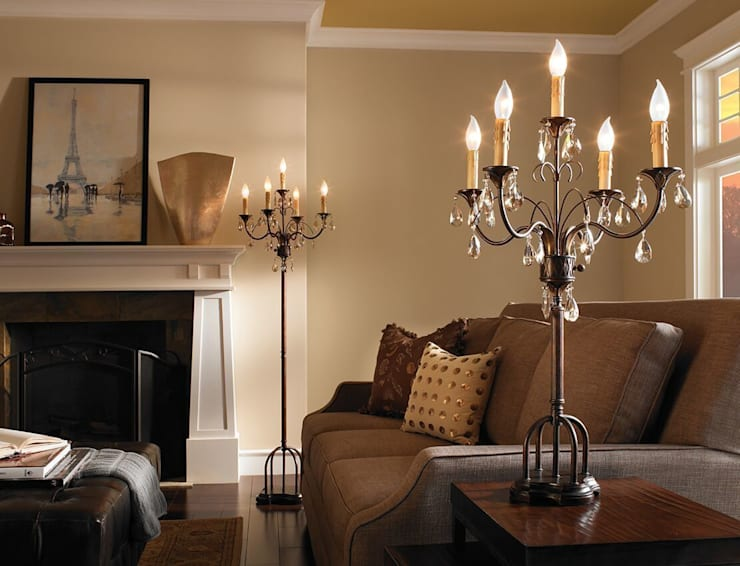 Anora Collection Feiss Lighting :  Living room by Shine Lighting Ltd