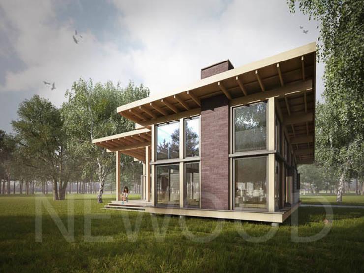 Верея 100: Дома в . Автор – NEWOOD - Современные деревянные дома,