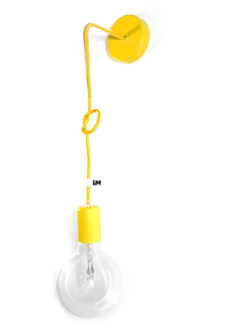 Nowoczesny kinkiet w kolorze żółtym imindesign: styl , w kategorii  zaprojektowany przez IMIN,Minimalistyczny