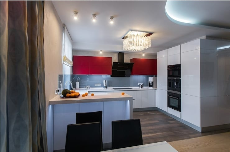 Современная квартира: Кухни в . Автор – Студия интерьерного декора PROSTRANSTVO U