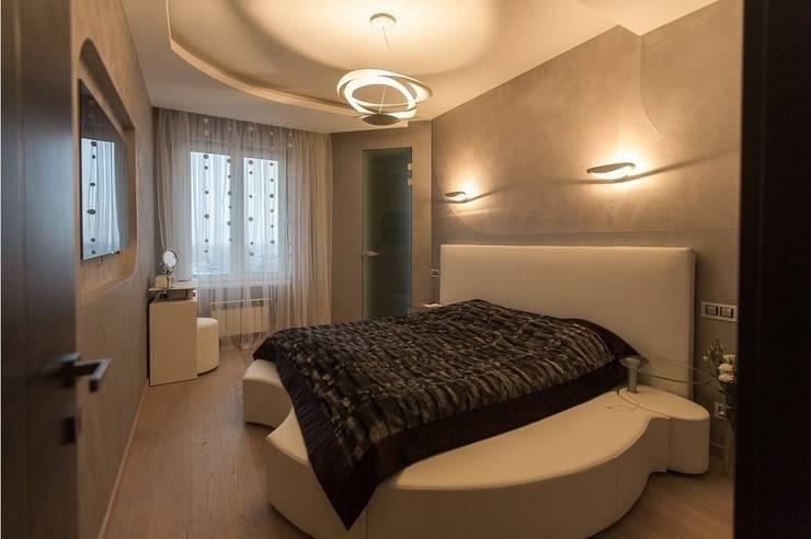Современная квартира: Спальни в . Автор – Студия интерьерного декора PROSTRANSTVO U