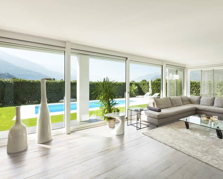 Dekton Living Room - Makai: Soggiorno in stile  di Gruppo Cosentino