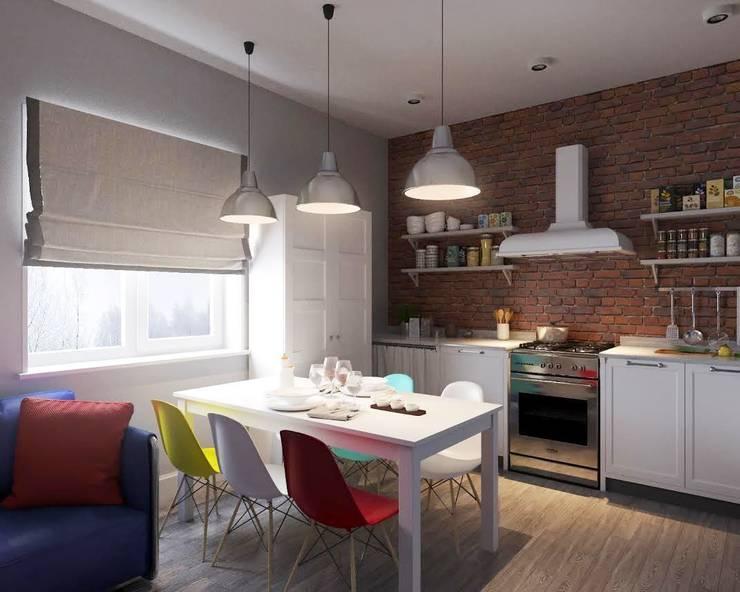 Квартира на ул. Мосфильмовская: Кухни в . Автор – Tina Gurevich, Лофт