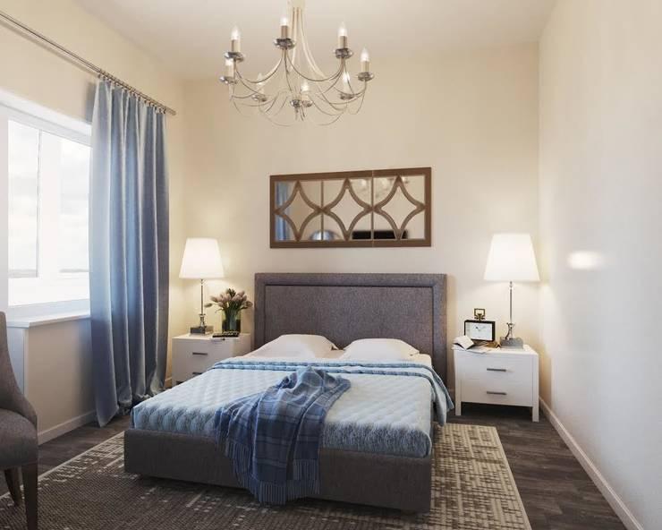 Квартира на ул. Мосфильмовская: Спальни в . Автор – Tina Gurevich, Эклектичный