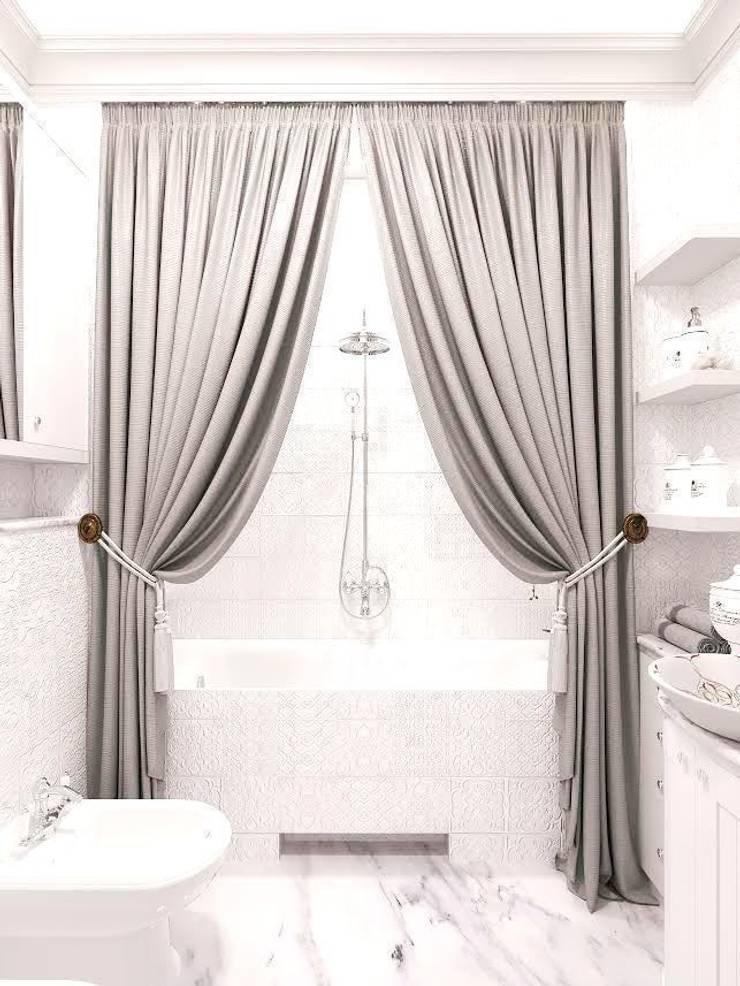 Квартира на ул. Мосфильмовская: Ванные комнаты в . Автор – Tina Gurevich