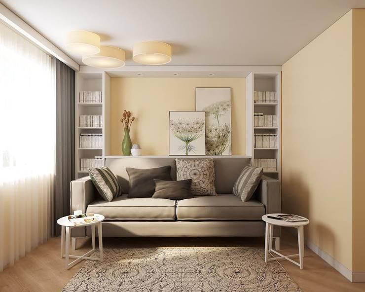 Квартира на ул. Краснобогатырская: Гостиная в . Автор – Tina Gurevich