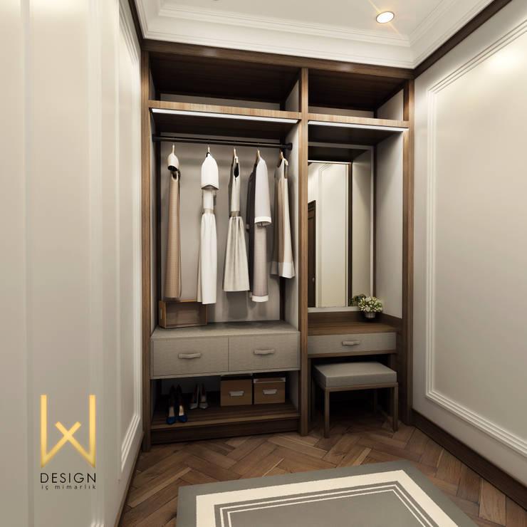 W DESIGN İÇ MİMARLIK – Sinop Valilik Binası:  tarz Giyinme Odası
